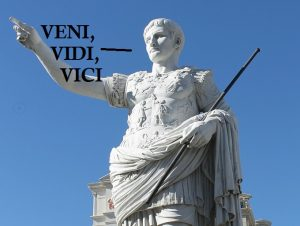 Caesar is Lord, Veni Vidi Vici, and the world Jesus invaded in Year Zero.